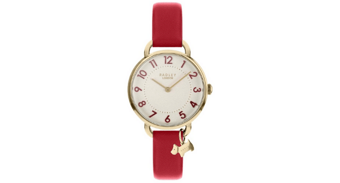 Ladies red Leather Watch