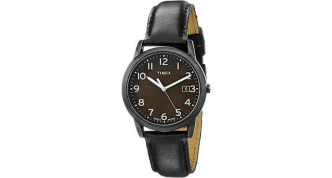 mens leather strap watches