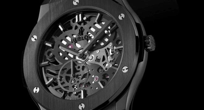 black timepiece