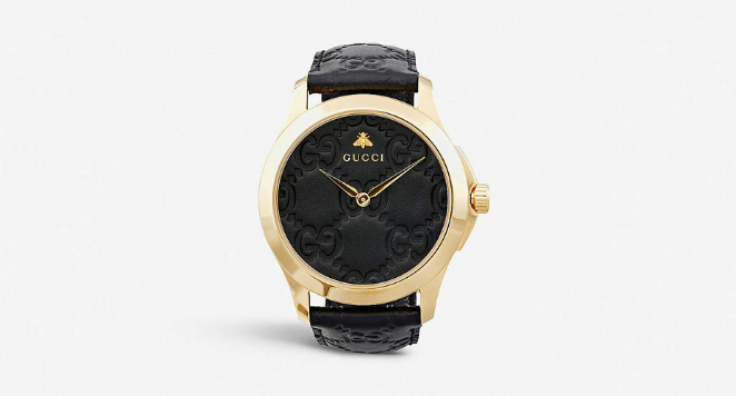 gucci black watches for women