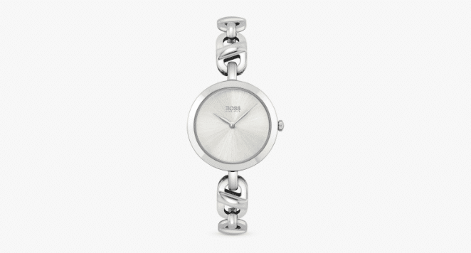 hugo boss silver watches for women