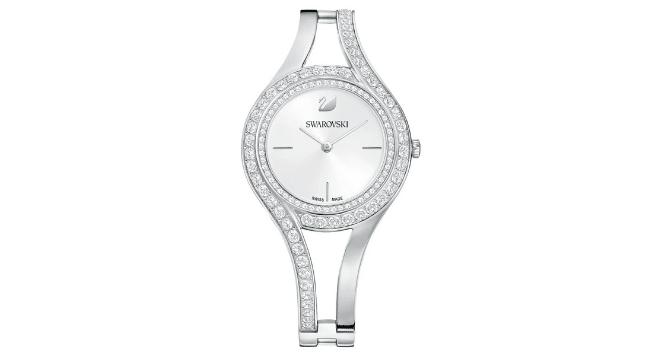 Swarovski silver watches for women