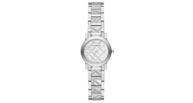 Burberry silver watches for women