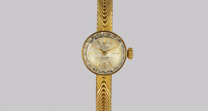 Universal Geneve, 18ct Gold Bracelet Watch Vintage