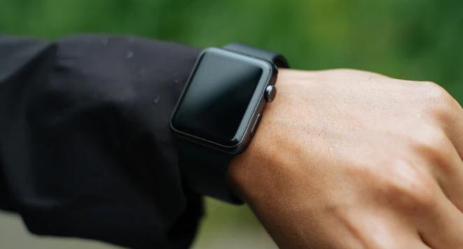 modern digital watch shown on a wrist