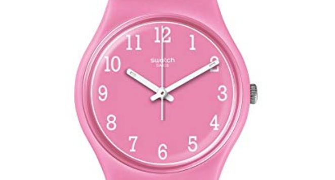 90s pink swatch watch