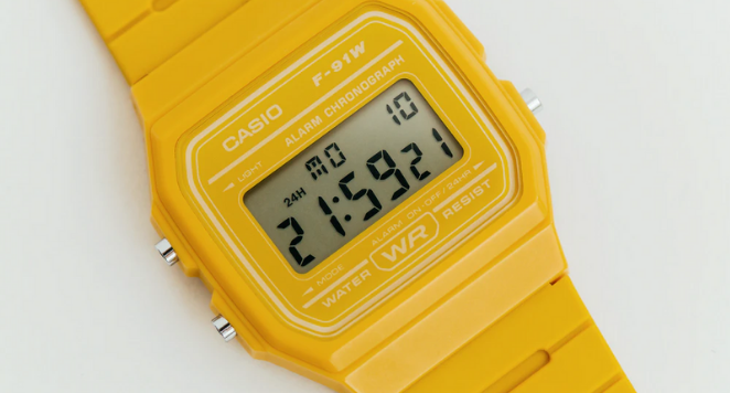 yellow casio watch from the 90s