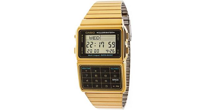 Casio, DBC611G-1D Gold & Black Digital Watch 80s watches