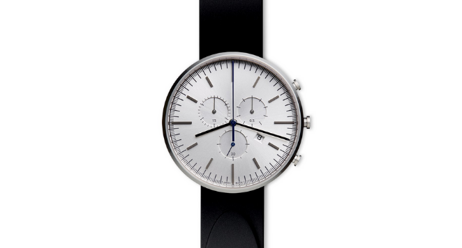 Uniform Wares, M42 PreciDrive Chronograph Watch In Polished Steel