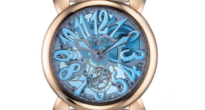 Gaga Milano, Men's White Skeleton Mechanical Watch 5311SKY