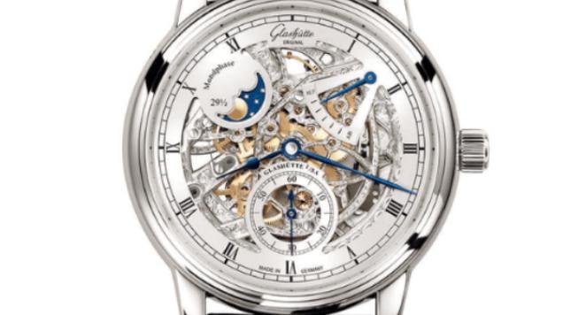 Glashutte Original, Senator Moonphase 18CT White Gold 42mm Skeletonized Edition Watch