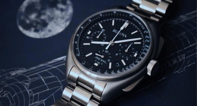 Close up of Bulova aviation watch