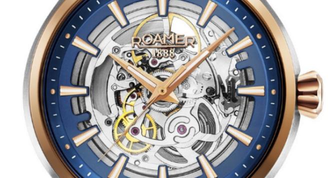 Roamer, Men's Two Tone Competence Skeleton III Mechanical Watch 101663 47 45 10N