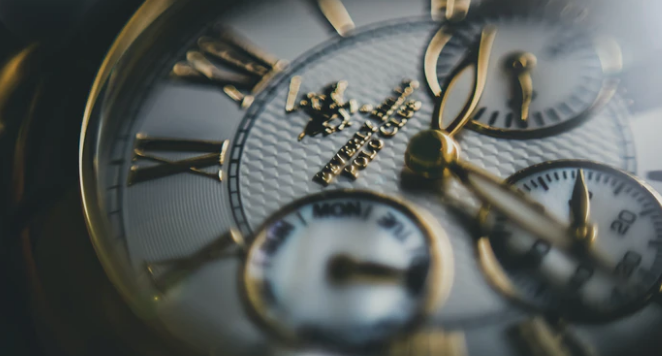 close up of Beverley Hills Polo Club watch dial