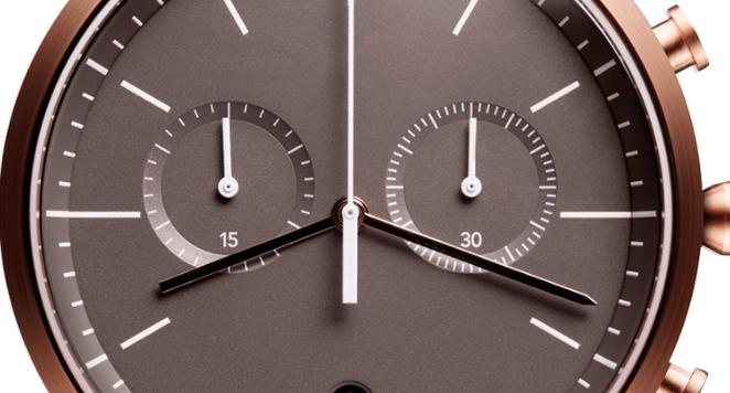 close up of brown unisex Uniform Wares watch