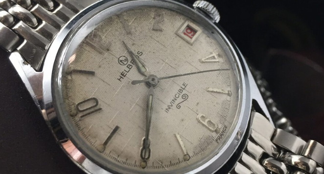 1950s white dial watch