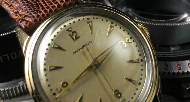 1950s gold watch