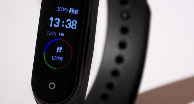 black dial digital watch