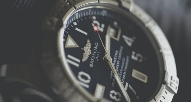 breitling watch with bezel