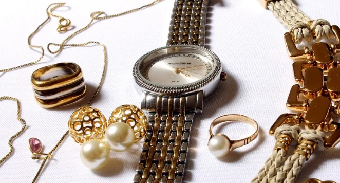 womens jewellery including watch with dual-toned metal bracelet