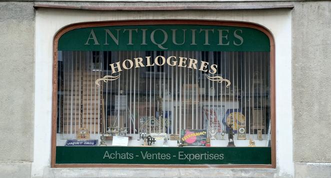 Watch shop window in France
