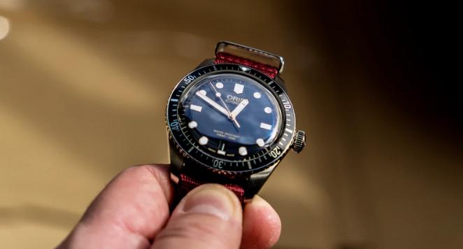 Oris automatic watch with bezel