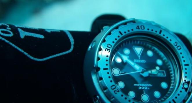 Seiko dive watch underwater