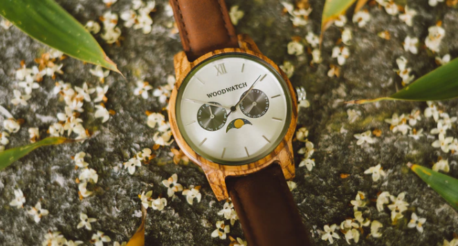 Woodwatch outside on floor