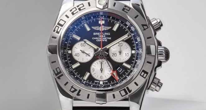 Breitling blue dial tachymeter watch