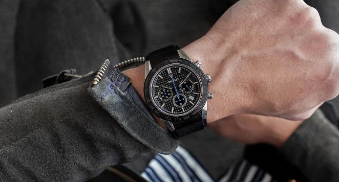 black watch on man's wrist