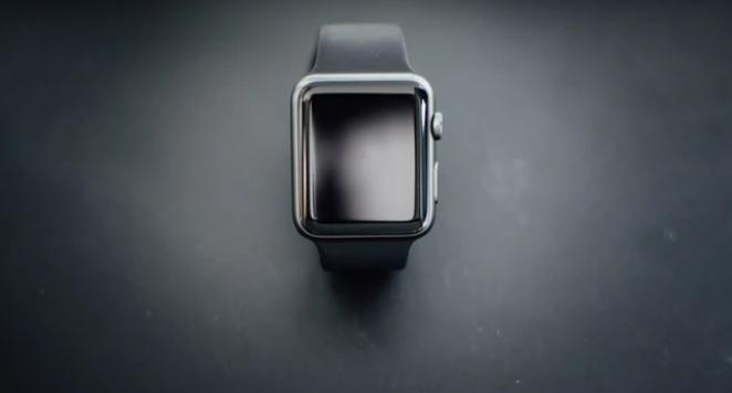 apple watch on black background