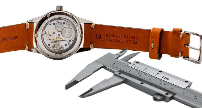 watch band with calliper