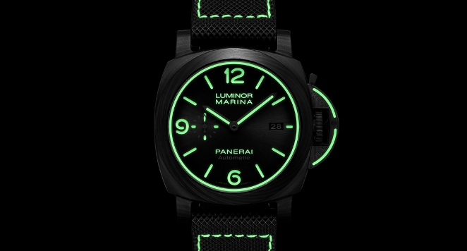 Glow-in-the-dark watch